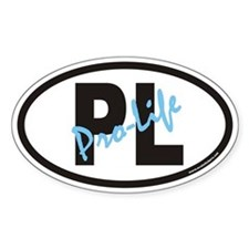Pro-Life PL Oval Decal