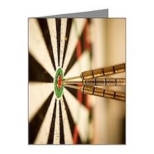 Darts in bull's-eye of targe Note Cards (Pk of 20)