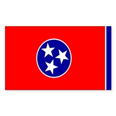 Tennessee Flag Rectangle Decal