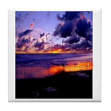 Beach SunSet Flip Flops Tile Coaster