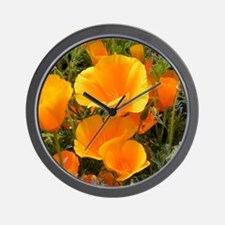 Poppies (Eschscholzia californica) Wall Clock