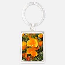 Poppies (Eschscholzia californic Portrait Keychain