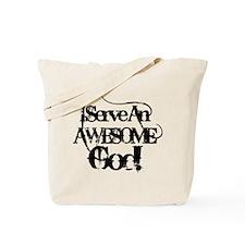 Grunge Awesome God Tote Bag