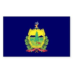 Vermont Flag Rectangle Decal