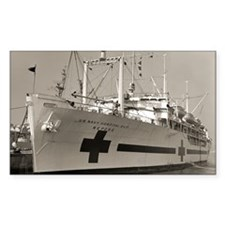 uss repose large framed print Decal