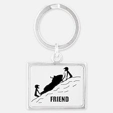 Friend / Best Friend Front Blac Landscape Keychain