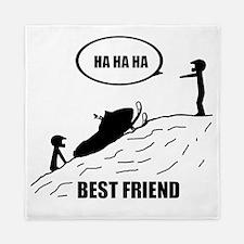 Friend / Best Friend Back Black Queen Duvet