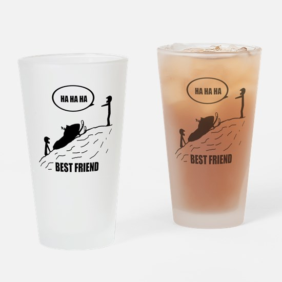 Friend / Best Friend Back Black Drinking Glass