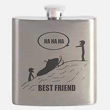 Friend / Best Friend Back Black Flask