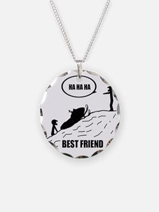 Friend / Best Friend Back Bl Necklace