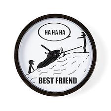 Friend / Best Friend Back Black Wall Clock
