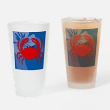 Crab Wine Label Drinking Glass