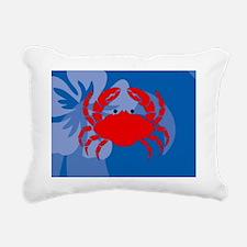 Crab Picture Ornament Rectangular Canvas Pillow