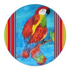 pretty parrot Round Car Magnet