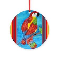 pretty parrot Round Ornament