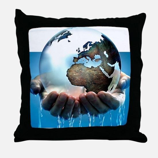Polar ice caps melting, conceptual im Throw Pillow