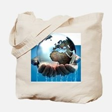 Polar ice caps melting, conceptual image Tote Bag