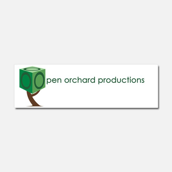Open Orchard Productions Logo Car Magnet 10 x 3