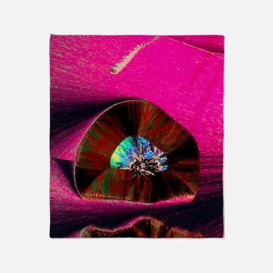 PLM of crystals of progesterone Throw Blanket