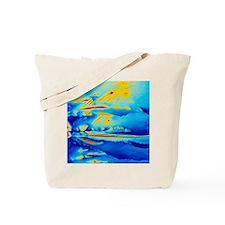 Polarised LM of vitamin D crystals Tote Bag