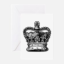 Royal Crown, black Greeting Cards (Pk of 10)