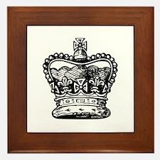 Royal Crown, black Framed Tile