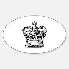 Royal Crown, black Oval Decal