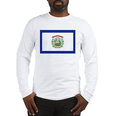 West Virginia Flag Long Sleeve T-Shirt