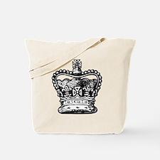 Royal Crown, black Tote Bag