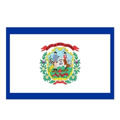 West Virginia Flag Postcards (Package of