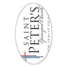 St. Peters Logo - rotated Decal