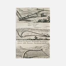 Plough types, 18th century artwor Rectangle Magnet
