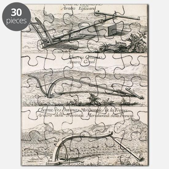 Plough types, 18th century artwork Puzzle