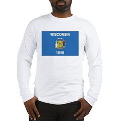 Wisconsin Flag Long Sleeve T-Shirt