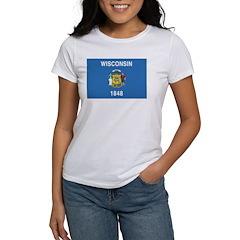 Wisconsin Flag Women's T-Shirt