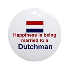 Happily Married To A Dutchman Keepsake Ornament