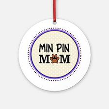 Min Pin Dog Mom Ornament (Round)