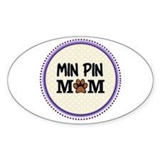 Min Pin Dog Mom Decal