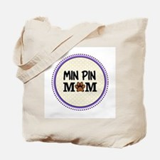 Min Pin Dog Mom Tote Bag