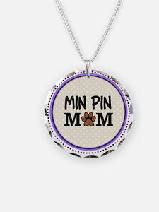 Min Pin Dog Mom Necklace