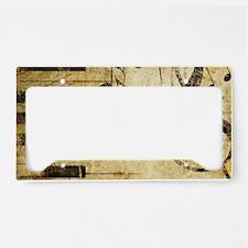 Musical Notes License Plate Holder