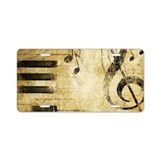 Music notes License Plates