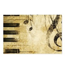 Musical Notes Postcards (Package of 8)