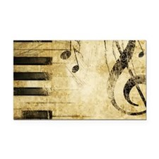 Musical Notes Rectangle Car Magnet