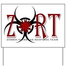 Zombie Outbreak Response Team Logo Yard Sign