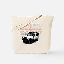 Union Jack Land Rover Defender Tote Bag