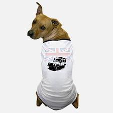 Union Jack Land Rover Defender Dog T-Shirt