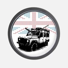 Union Jack Land Rover Defender Wall Clock
