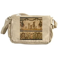 Pig sacrifice, Roman fresco Messenger Bag