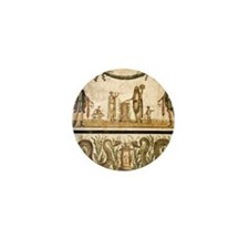 Pig sacrifice, Roman fresco Mini Button